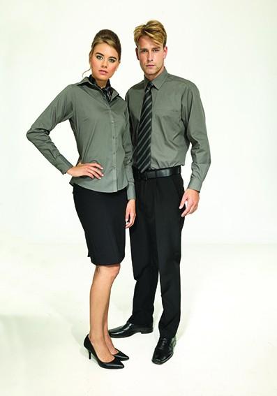 Berufsbekleidung Büro - Bluse und Hemd mit Rock und Hose