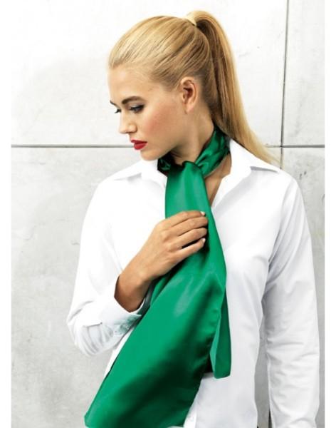 Frau Modell grünes halstuch