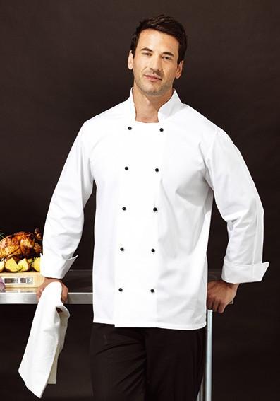 Kochjacke-mit-Doppelknopfleiste-und-Langarm