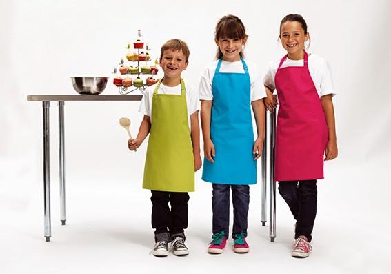 bunte Kinderschürzen selber kochen lernen