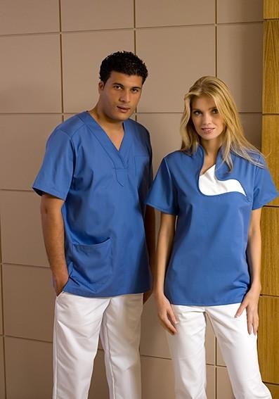 Blauer-Schlupfkasack-Krankenhaus-Berufsbekleidung