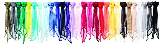 Accessoires für Messebekleidung: farbige Halstücher