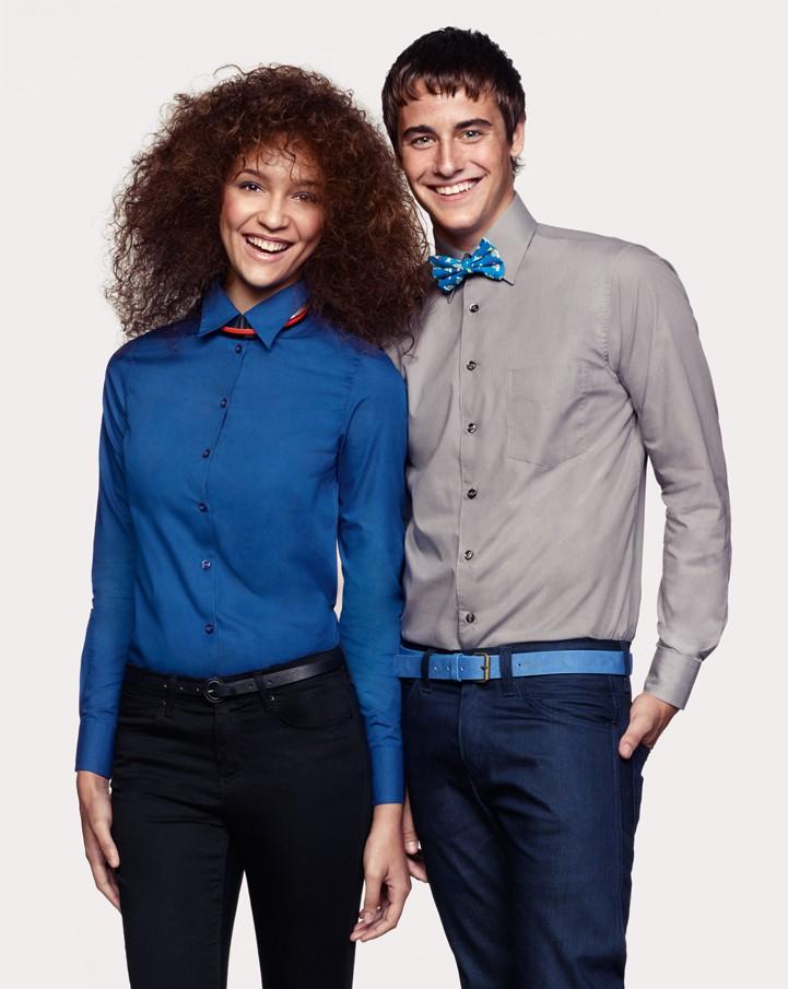 Teamkleidung Messe: Hemden und Blusen mit Firmenlogo