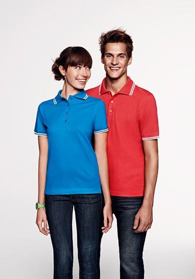 Teambekleidung mit einheitlichen Poloshirts für Damen und Herren