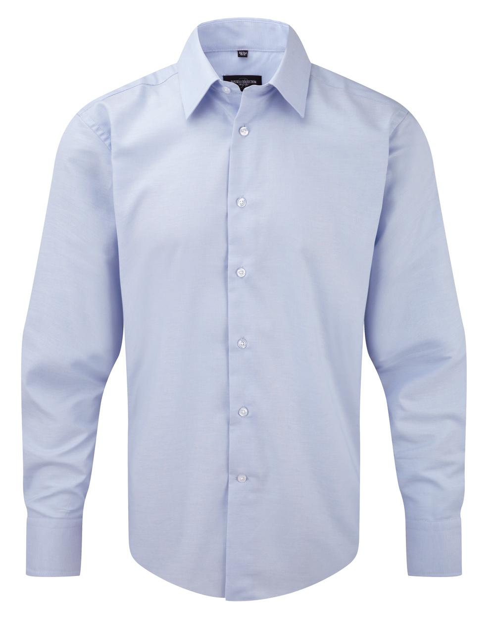 Oxford Hemd blue langarm taillietr