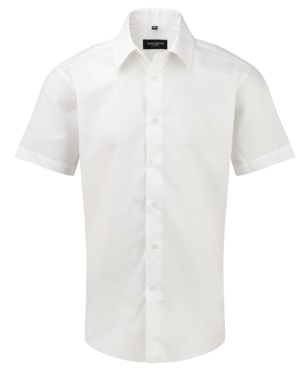 Oxford Hemd kurzarm weiß