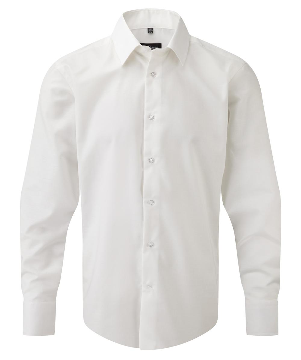 Oxford Hemd weiß langarm tailliert