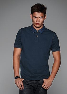 Jeans-Poloshirt für Herren