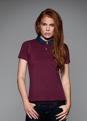 Jeans-Poloshirt für Damen
