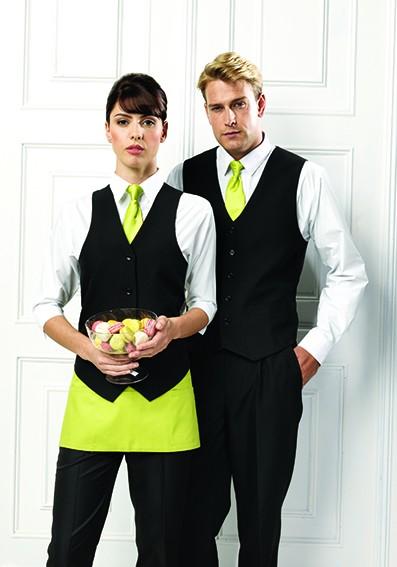 Servicebekleidung Weste mit Krawatte und Schürze