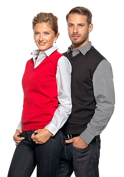 Team-Berufsbekleidung-Service - farbige-Pullunder