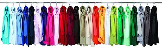 Servicebekleidung - farbige Krawatten und Hemden