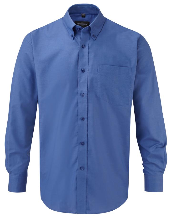 klassisches Hemd blau langarm
