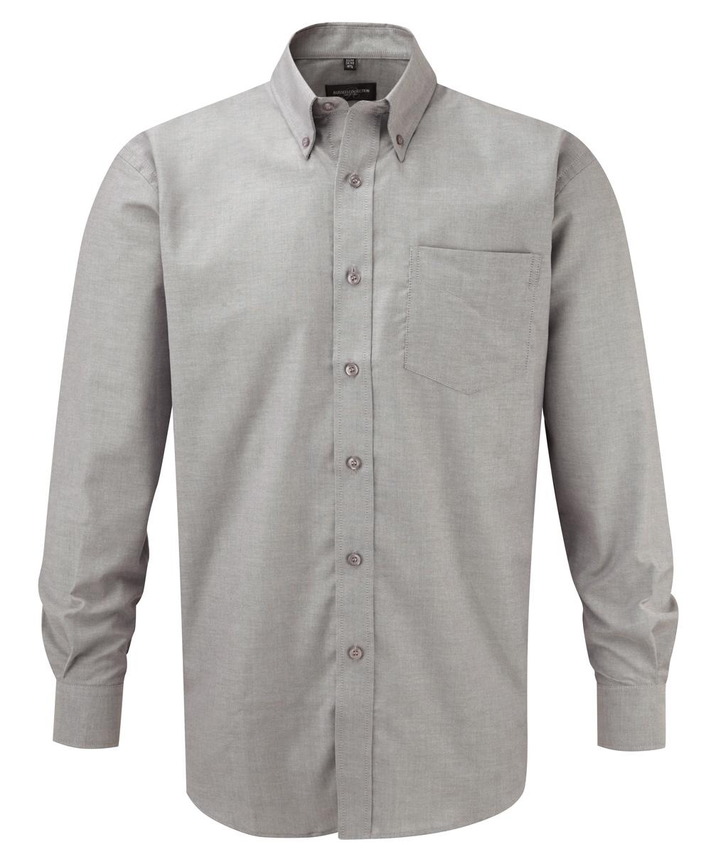klassisches hemd grau langarm