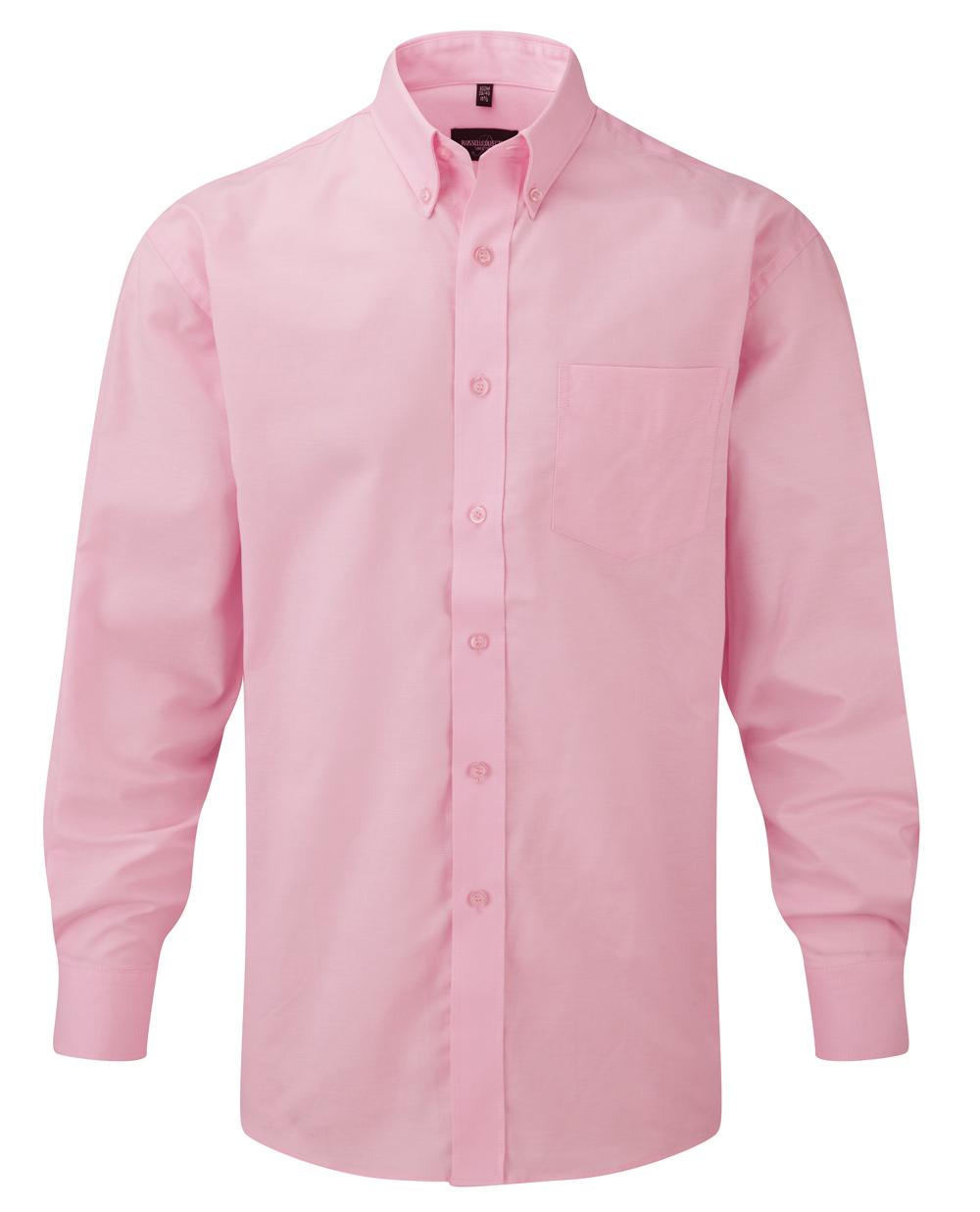 klassisches hemd rosé langarm