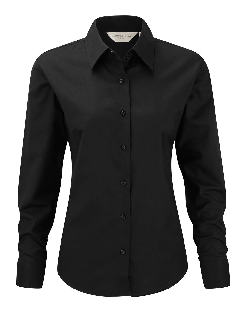 langarm bluse schwarz