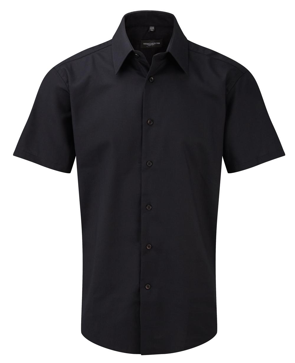 oxford hemd kurzarm schwarz